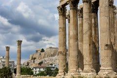 Tempel av olympiska Zeus i Aten Royaltyfri Fotografi