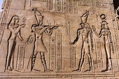 Tempel av Philae egyptierväggmålningar royaltyfri foto