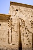 Tempel av Philae i Egypten royaltyfria foton