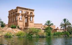 Tempel av Philae på Aswan, Egypten Fotografering för Bildbyråer