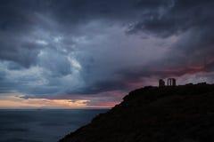 Tempel av Poseidon Arkivfoton