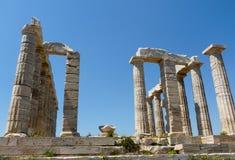 Tempel av Poseidon i Sounio Grekland Royaltyfri Bild