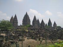 Tempel av Prambanan Arkivfoto