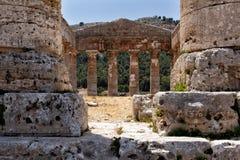 Tempel av Segesta Royaltyfria Foton