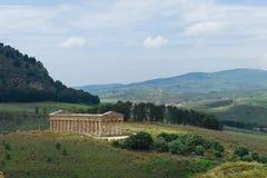 Tempel av Segesta i Sicily Arkivbilder