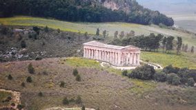 Tempel av Segesta, Sicilien, Italien fotografering för bildbyråer