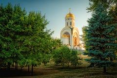 Tempel av St George på den Poklonnaya kullen Royaltyfri Fotografi
