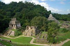 Tempel av The Sun/Palenque, Mexico Arkivfoton