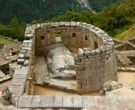 Tempel av Sunen på Machu Picchu Arkivbilder