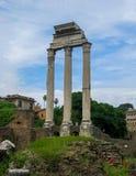 Tempel av svängbara hjulet Roman Forum arkivfoton
