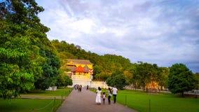 Tempel av tanden Kandy Sri Lanka royaltyfri foto