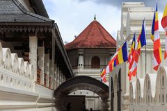 Tempel av tanden och Royal Palace - Kandyen, Sri Lanka Royaltyfria Bilder