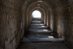 Tempel av Telesphorus i den romerska staden Pergamum Royaltyfri Foto