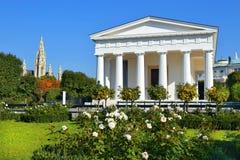 Tempel av Theseus i Wien Volksgarten, Österrike Royaltyfria Bilder