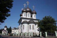 Tempel av tillträdeet av modern av guden. Moscow. Fotografering för Bildbyråer