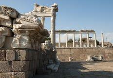 Tempel av Trajan på Pergamos Arkivfoton