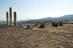 Tempel av Trajan på Pergamos Royaltyfri Bild