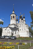 Tempel av uppstigningen av Herren som är till salu i Veliky Ustyug, Vologda region Arkivfoton