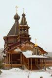 Tempel av vår dam av Troeruchnitsa. Moskva Arkivfoton