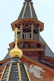 Tempel av vår dam av Troeruchnitsa. Moskva. Fragment. Royaltyfria Foton