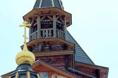 Tempel av vår dam av Troeruchnitsa. Moskva. Fragment. Fotografering för Bildbyråer
