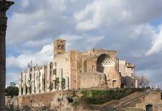 Tempel av Venus och Roma Arkivbild