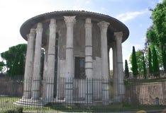 Tempel av vestaen i Rome för plottarprinting för 3d Digital Equipment framför den frontal professionelln sikt Royaltyfria Foton