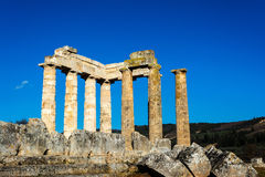 Tempel av Zeus i den forntida Nemeaen Arkivbild
