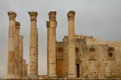 Tempel av Zeus, Jerash Arkivbilder