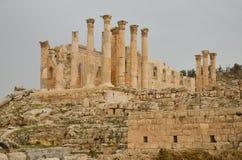 Tempel av Zeus, Jerash Royaltyfria Foton
