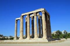 Tempel av Zeus Olympian Royaltyfri Fotografi