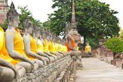 Tempel in Ayutthaya Royalty-vrije Stock Fotografie