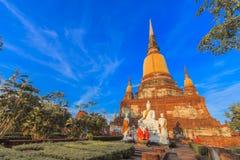 Tempel in Ayutthaya Stock Afbeeldingen