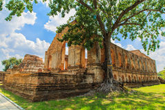 Tempel in Ayutthaya Stock Afbeelding