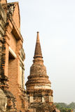 Tempel Ayutthaya, Thailand Arkivfoton