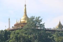 Tempel BÖNKORRIDOREN AV BUDDISTEN Arkivfoto