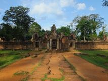 Tempel Banteay Srei σε Angkor wat, Καμπότζη Στοκ εικόνα με δικαίωμα ελεύθερης χρήσης