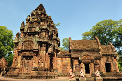 Tempel Banteay Srei Royalty Free Stock Photo