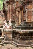 Tempel Banteay Srei in Angkor Royalty Free Stock Photo