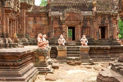 Tempel Banteay Srei in Angkor Royalty Free Stock Photos