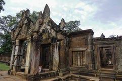 Tempel BANTEAY SREI, weit preisend als ` kostbares Edelstein ` oder das ` Juwel der Khmerkunst ` lizenzfreie stockbilder