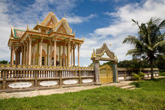 Tempel, Battambang, Kambodja Royalty-vrije Stock Afbeeldingen