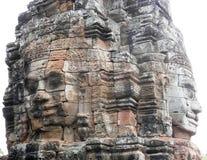 Tempel Bayon i Cambodja Arkivfoto