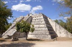 Tempel bei Chichen Itza Stockbild