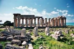 Tempel bei Selinunte Lizenzfreie Stockfotografie