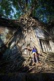 Tempel Beng Mealea. Cambodja Arkivbild