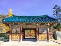 Tempel an Berg seorak, Südkorea lizenzfreies stockbild