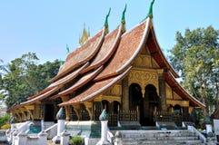 Tempel bij de Leren riem van Wat Xieng Stock Afbeeldingen