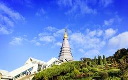 Tempel bij doi inthanon berg, Chiang Mai, Thailand Stock Afbeelding