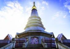 Tempel bij doi inthanon berg, Chiang Mai, Thailand Stock Foto's